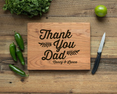 Cherry Personalized Cutting Board - Thank You, Dad