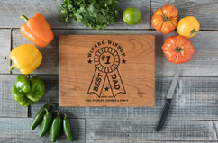 Cherry Personalized Cutting Board - Best Dad Award