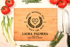 Cherry Personalized Cutting Board - Only the Best Mother's Day