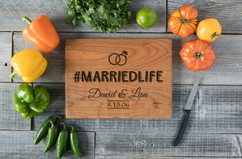 Cherry Personalized Cutting Board - #MARRIEDLIFE