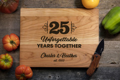 Cherry Personalized Cutting Board - Unforgettable Years