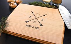 Cupid Arrow Personalized Cutting Board BW