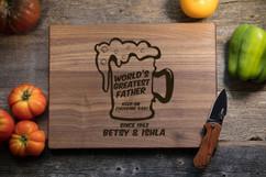 Walnut Personalized Cutting Board - Keep on Chugging