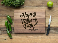 Walnut Personalized Cutting Board - Happy Father's Day