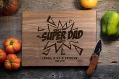 Walnut Personalized Cutting Board - Super Dad