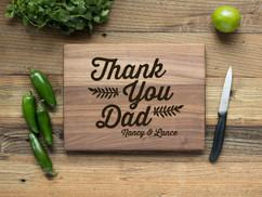 Walnut Personalized Cutting Board - Thank You, Dad
