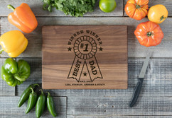 Walnut Personalized Cutting Board - Best Dad Award