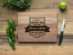 Walnut Personalized Cutting Board - You are the Best