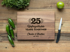 Walnut Personalized Cutting Board - Unforgettable Years