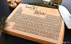 Periodic Lets Cook Personalized Cutting Board BW