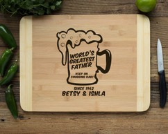 HDS Personalized Cutting Board - Keep on Chugging