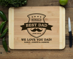 HDS Personalized Cutting Board - Best Dad Mustache
