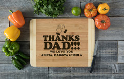 HDS Personalized Cutting Board - Clap Hands for Dad