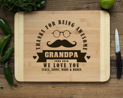HDS Personalized Cutting Board - Awesome Grandpa