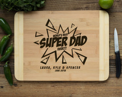 HDS Personalized Cutting Board - Super Dad