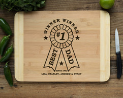 HDS Personalized Cutting Board - Best Dad Award