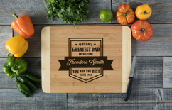HDS Personalized Cutting Board - You are the Dad