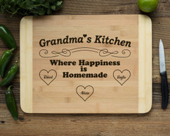 HDS Personalized Cutting Board - Happiness is Homemade