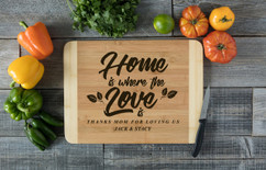 HDS Personalized Cutting Board - Where the Love Is