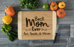 HDS Personalized Cutting Board - Best Mom Ever