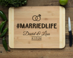 HDS Personalized Cutting Board - #MARRIEDLIFE