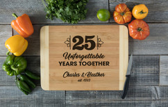 HDS Personalized Cutting Board - Unforgettable Years