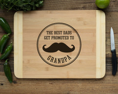 HDS Personalized Cutting Board - Promoted to Grandpa