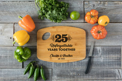Handle Personalized Cutting Board - Unforgettable Years