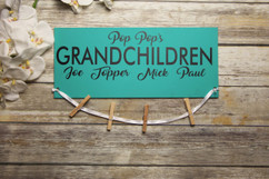 Family Sign - Grandpa's Grandchildren Sign