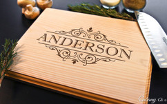 Vine Name Personalized Cutting Board BW