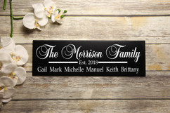 Family Sign - Personalized Family Sign