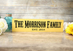 Family Sign - Family Name & Established Sign