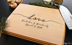 Love Script Personalized Cutting Board BW