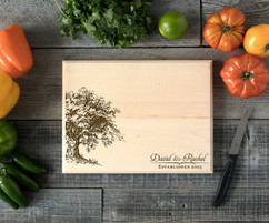 Willow Tree Personalized Cutting Board BW