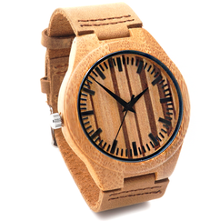 Grpn Spain - Wood Engraved Watch W#58 - PinStripe