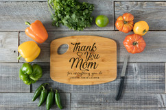 Grpn Spain - Handle Personalized Cutting Board - Thank You, Mom