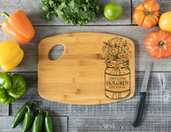 Grpn Spain - Handle Mason Jar Personalized Cutting Board