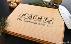 Father Element Personalized Engraved Cutting Board BW