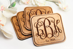 Grpn Spain - Personalized Coaster Set - Monogram