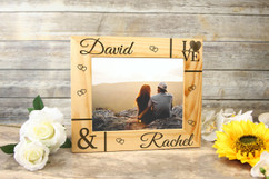 Grpn Spain - Personalized Picture Frame - Corner Names