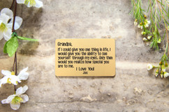 Grpn Spain - Personalized Wallet Card - Grandpa How Special You Are