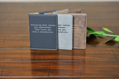 Engraved Leather Passport Wallet Holder - Traveling
