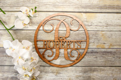 Family Sign - Circle Family Name Personalized Sign
