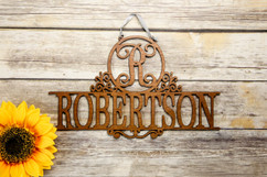 Family Sign - Elegant Family Name Personalized Sign