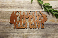 Family Sign - Little Man Cave Personalized Sign