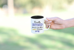 Personalized Mug - Finally Retired