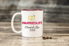Personalized Mug - #MARRIEDLIFE