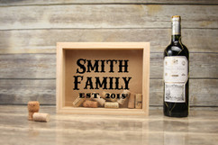 Personalized Shadow Box - Western Name Cork Keeper
