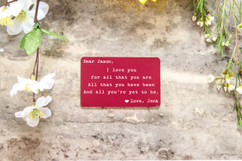 Personalized Wallet Card - I Love You For All That You Are