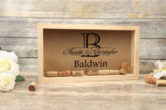 Personalized Shadow Box - Imprint Initial Cork Keeper